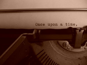 once upon a time - typewriter
